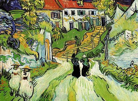 Van Gogh - Village Street and Steps in Auvers