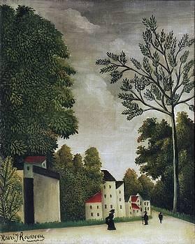 Village Street by Henri Rousseau