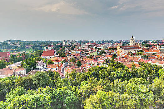 Vilnius old town cityscape, Lithuania by Mariusz Prusaczyk