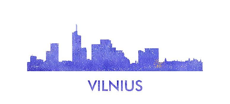 Vyacheslav Isaev - Vilnus city purple skyline