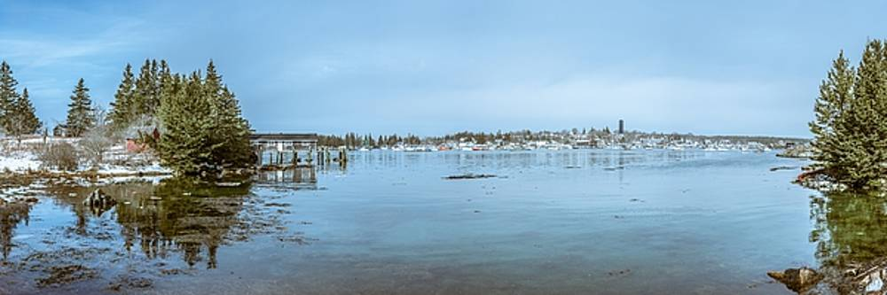 Vinalhaven Harbor in Winter by Tim Sullivan