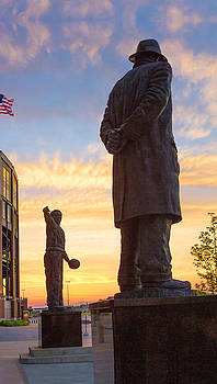 Vince and Curly at Sunset by Kathy Weigman