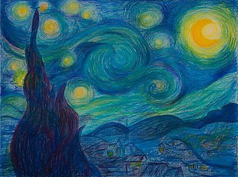 Vincent Starry Night by Elena Soldatkina