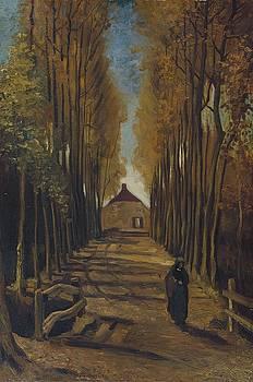 Vincent Van Gogh  Avenue Of Poplars In Autumn by Artistic Panda
