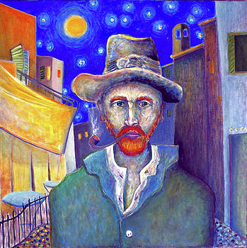 Vincent Van Gogh Leaving Cafe by Andrew Osta