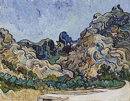 Vincent Van Gogh  Mountains At Saint Remy by Artistic Panda