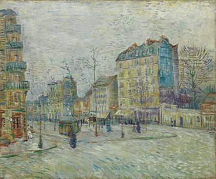 Vincent Van Gogh  The Boulevard De Clichy, Paris by Artistic Panda