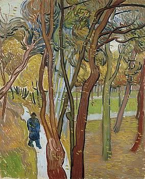 Vincent Van Gogh, The Garden Of Saint Paul's Hospital by Artistic Panda