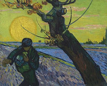 Vincent Van Gogh, The Sower by Artistic Panda