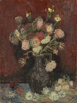Vincent Van Gogh, Vase With Autumn Asters by Artistic Panda