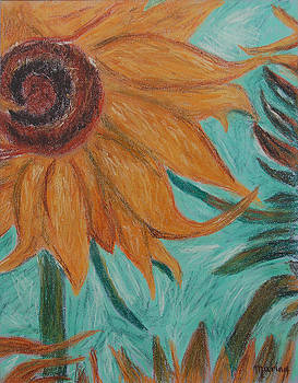Vincent's Sunflower by Marina Garrison