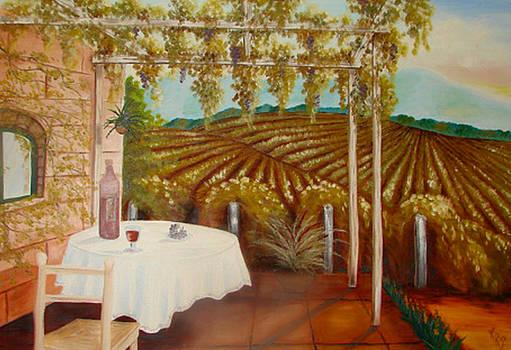 Vineyard II by Karen R Scoville