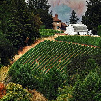 Vineyard on a Hill by Richard Hinds