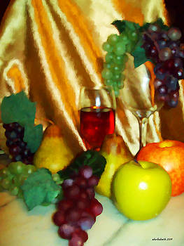 Michelle  BarlondSmith - Vino ii Impression Still Life