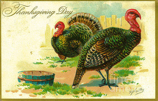Dale Powell - Vintage 1909 Thanksgiving Day Postcard