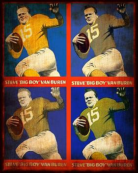 Vintage 1948 Steve - Big Boy - Van Buren Football Cards by Dan Haraga
