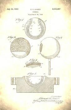 Vintage 1953 Baseball Patent by Jennifer Capo