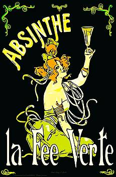 Larry Lamb - Vintage absinthe advertising remastered