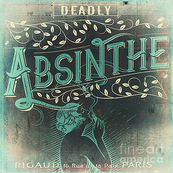 Vintage Absinthe Label by Mindy Sommers