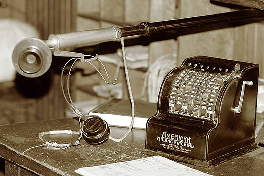 Vintage adding machine by Brian Pflanz