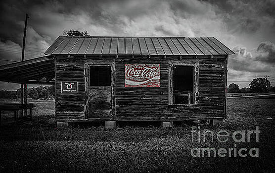 Dale Powell - Vintage Barn with Coco Cola Sign