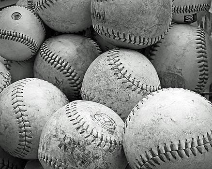 Vintage Baseballs by Brooke T Ryan