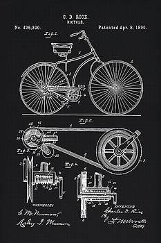 Tina Lavoie - Vintage Bicycle patent illustration 1890