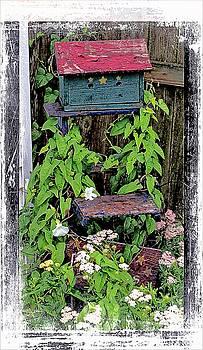 Vintage Bird House by Virginia Folkman