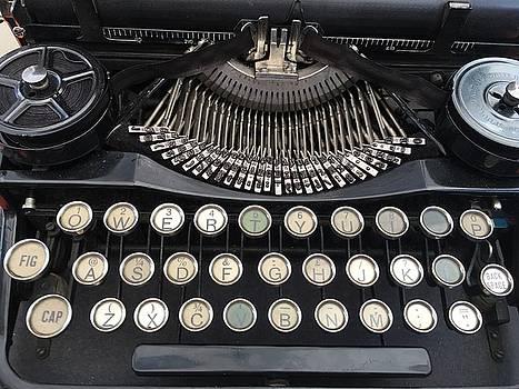 Vintage Black Typewriter by Jen Lynn Arnold