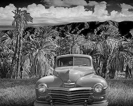 Randall Nyhof - Vintage Blue Plymouth Automobile in Black and White
