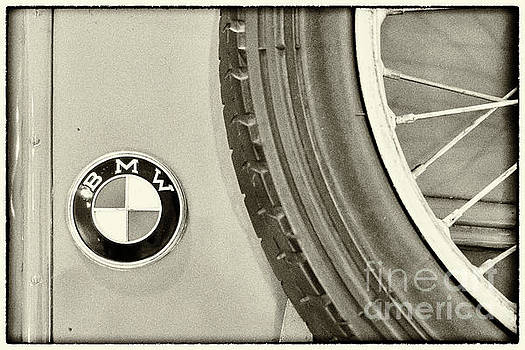 Vyacheslav Isaev - Vintage BMW sign and wheel framed