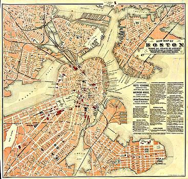 Vintage Boston Maps - Vintage Boston Map 13