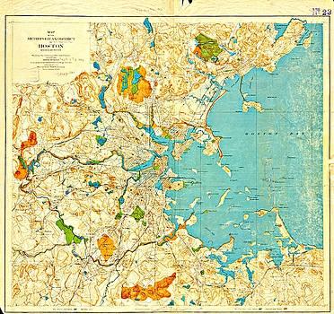 Vintage Boston Maps - Vintage Boston Map 15