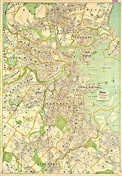Vintage Boston Maps - Vintage Boston Map 17