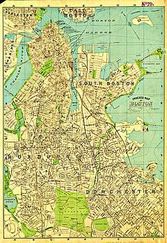Vintage Boston Maps - Vintage Boston Map 19