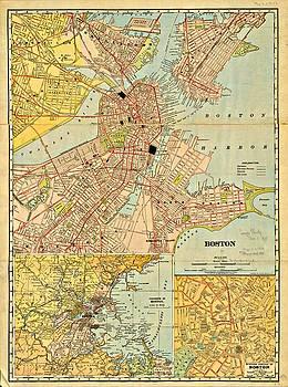 Vintage Boston Maps - Vintage Boston Map 20