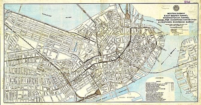 Vintage Boston Maps - Vintage Boston Map 21