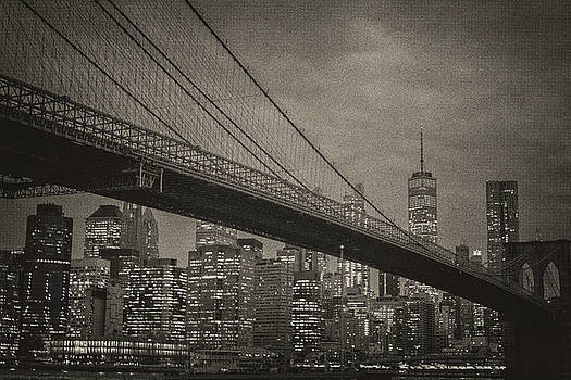 Vintage Brooklyn Bridge by Jesse MacDonald