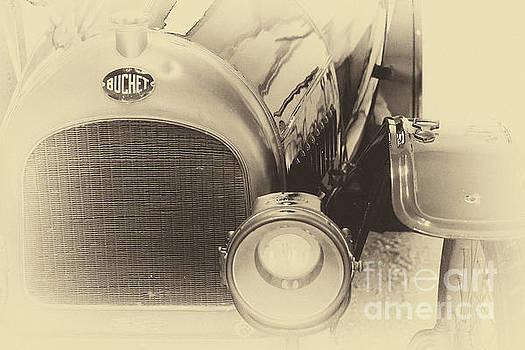 Vintage Buchet auto, hood and lamp by Vyacheslav Isaev