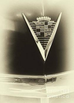 Vyacheslav Isaev - Vintage Cadillac 62, hood badge sepia