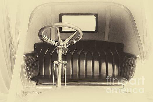 Vintage car interior in sepia by Vyacheslav Isaev