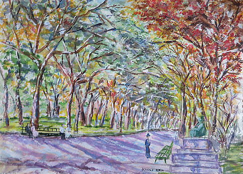 Vintage Central park by Lucille Femine
