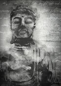 Vintage Chalk Meditating Buddha by Ray Van Gundy