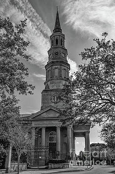 Vintage Charleston Church Landmark by Dale Powell