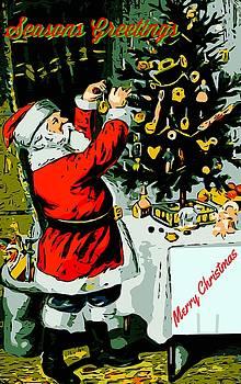 Larry Lamb - Vintage Christmas card remastered