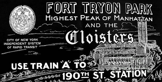 Vintage Cloisters and Fort Tryon Park Poster by Cole Thompson