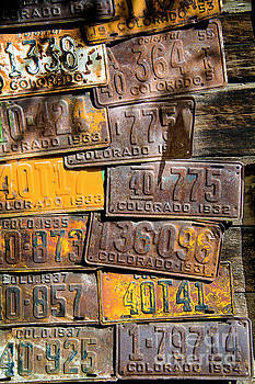 Vintage Colorado License Plates by The Forests Edge Photography - Diane Sandoval