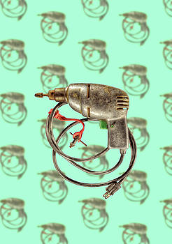 Vintage Drill Motor Green Trigger Pattern by YoPedro