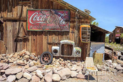 Vintage Drink Coca-Cola Sign by Edward Fielding