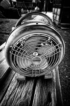 Vintage Electric Heater with Fan in BW by YoPedro